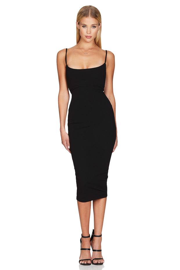 Nookie Bailey Midi Dress - Black - SHOPJAUS - JAUS