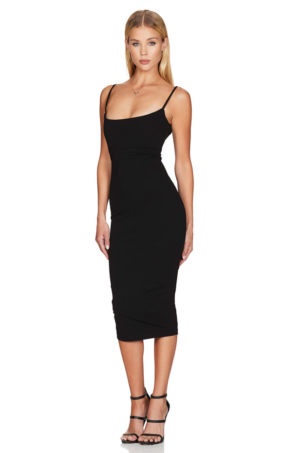 Nookie Bailey Midi Dress - Black
