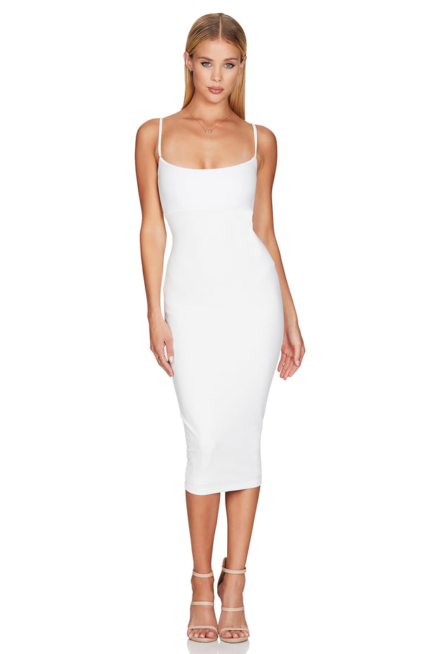 Nookie Bailey Midi Dress - Ivory - SHOPJAUS - JAUS