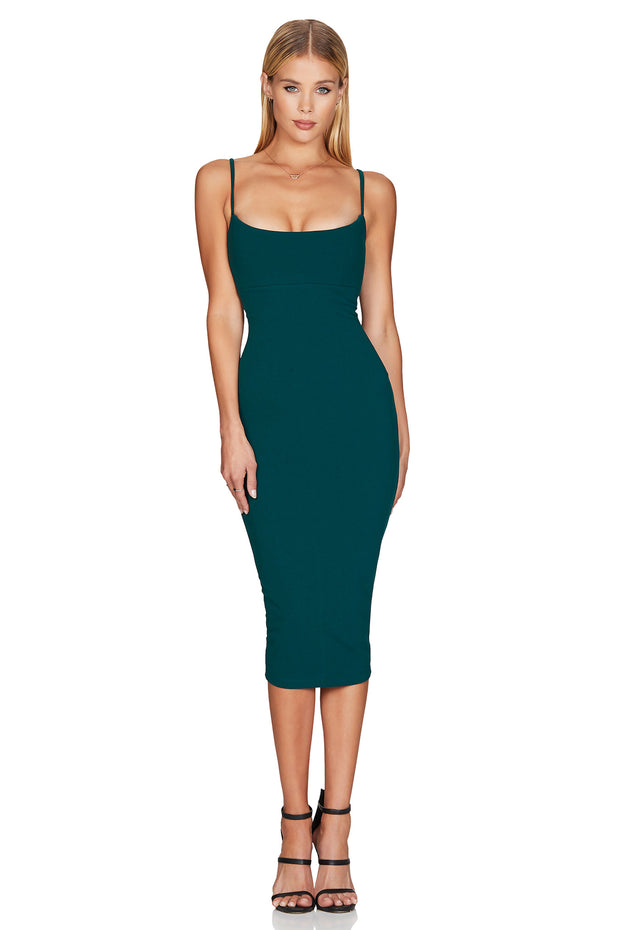 Nookie Bailey Midi Dress - Teal - SHOPJAUS - JAUS