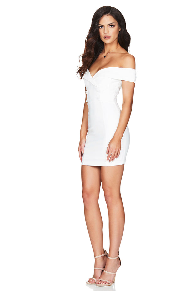 Nookie Bella Mini Dress - White - SHOPJAUS - JAUS