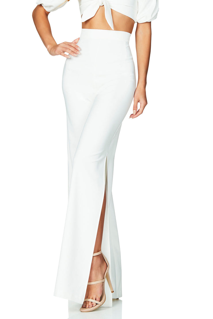 Nookie Belle High Waist Pant - Ivory - SHOPJAUS - JAUS