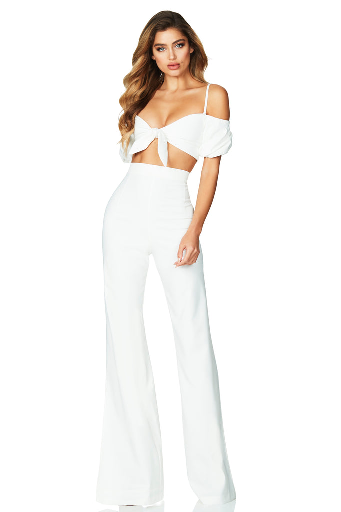 Nookie Belle Crop - Ivory - SHOPJAUS - JAUS