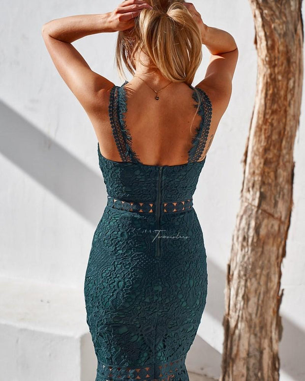 Blair Dress - Green - SHOPJAUS - JAUS