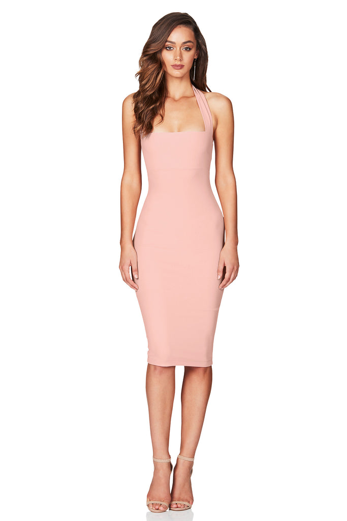 Nookie Boulevardé Midi Dress - Blush - SHOPJAUS - JAUS