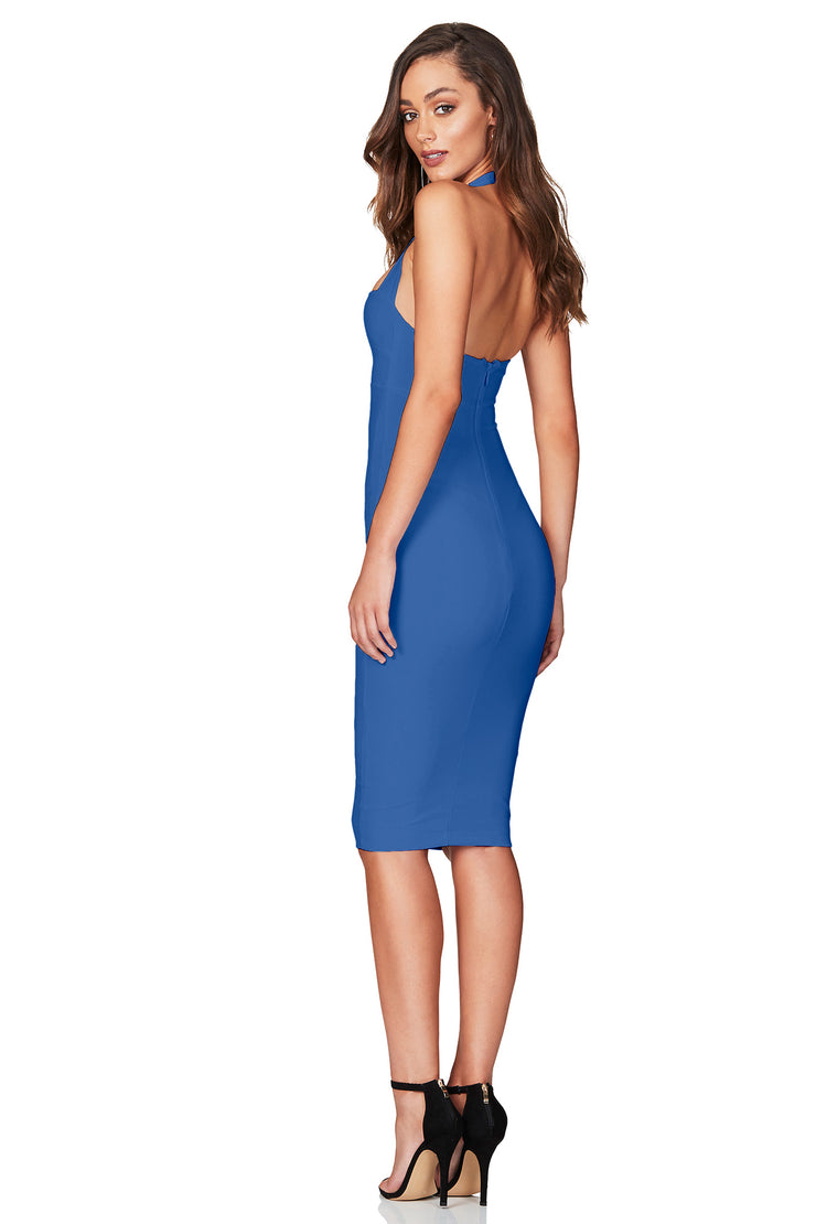 Nookie Boulevard Midi Dress - Denim Blue - SHOPJAUS - JAUS