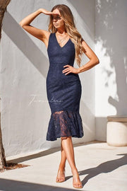 Bridget Dress - Navy - SHOPJAUS - JAUS