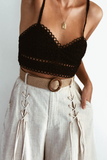Broidery Bralette Top - Black - SHOPJAUS - JAUS