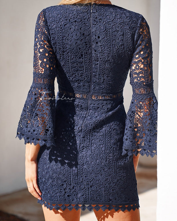 Brooklyn Dress - Navy - SHOPJAUS - JAUS