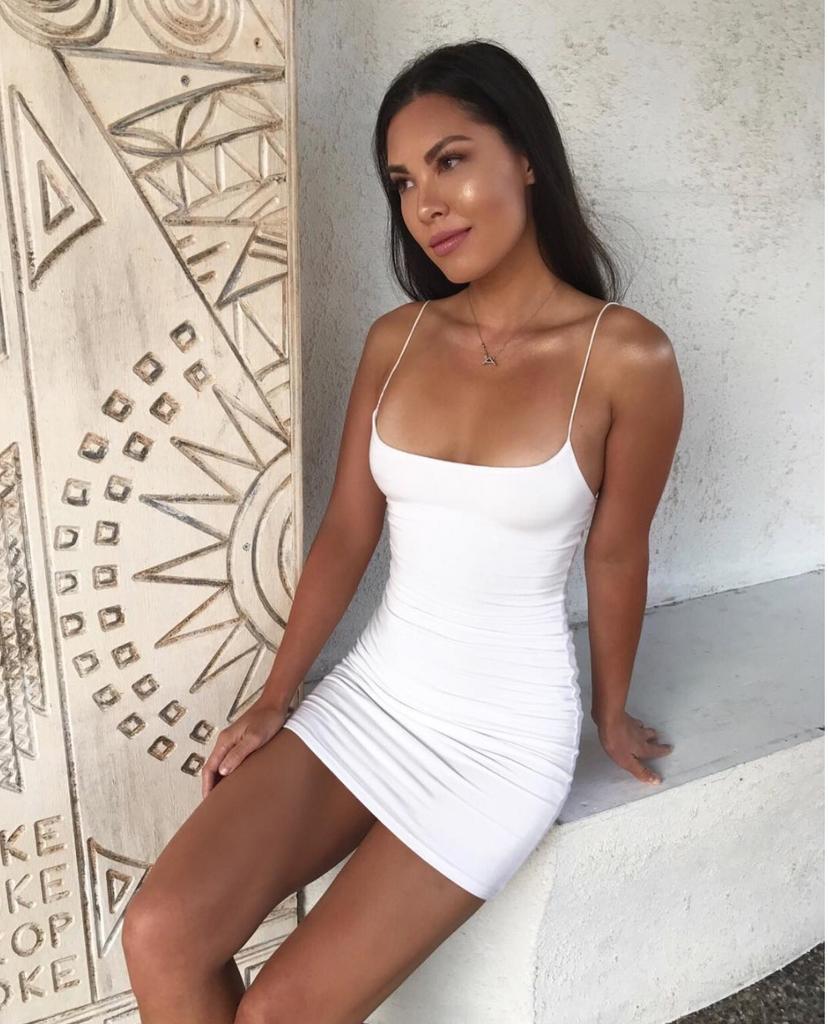Basic Love Mini Dress - White - SHOPJAUS - JAUS