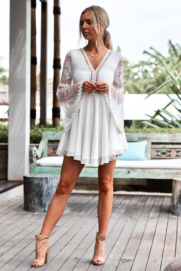Bethany Dress - White - SHOPJAUS - JAUS
