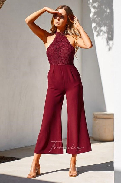 Bree Jumpsuit - Red - SHOPJAUS - JAUS