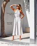 Bree Jumpsuit - White - SHOPJAUS - JAUS