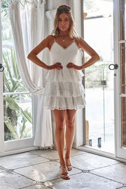 Bronte Dress - White - SHOPJAUS - JAUS