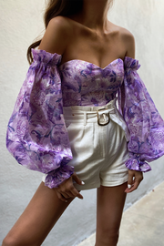 Holly Bodysuit - Lilac Floral