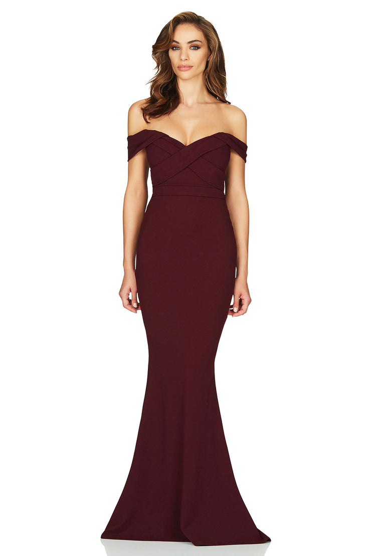 Nookie Camille Gown - Wine - SHOPJAUS - JAUS