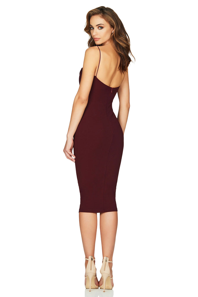 Nookie Camille Midi Dress - Wine - SHOPJAUS - JAUS