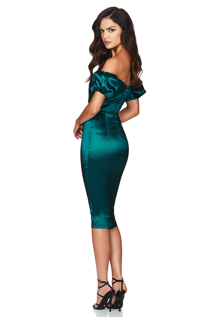 Nookie Candice Midi Dress - Teal