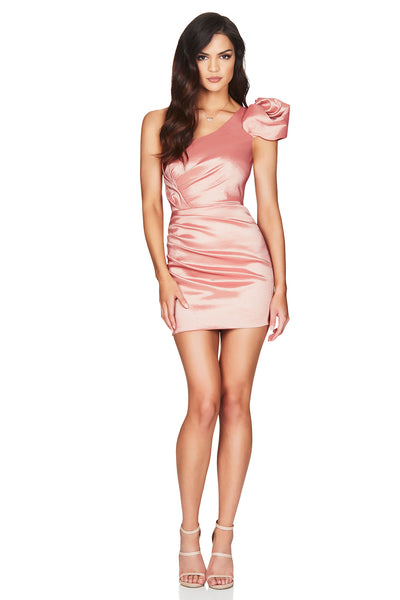 Nookie Candice One Shoulder Mini Dress - Blush - SHOPJAUS - JAUS
