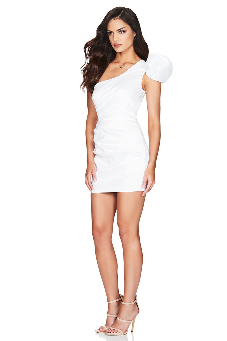 Nookie Candice One Shoulder Mini Dress - White - SHOPJAUS - JAUS