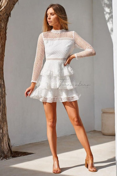 Cassidy Dress - White - SHOPJAUS - JAUS