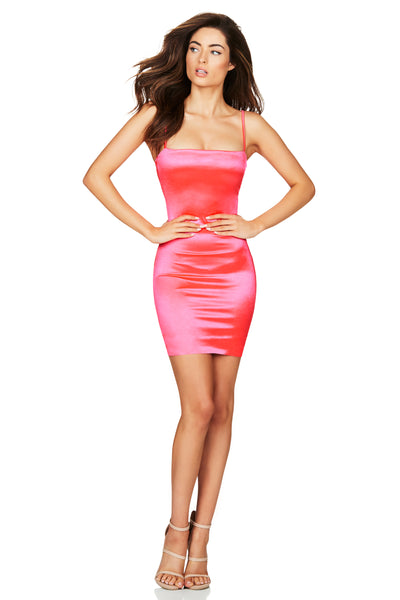 Nookie Charlize Mini Dress - Neon Pink - SHOPJAUS - JAUS