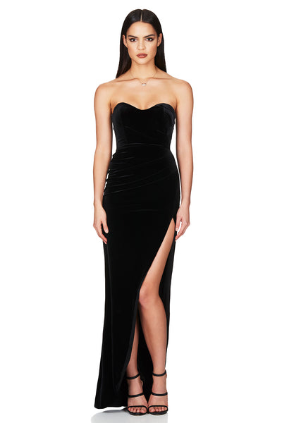 Nookie Cherish Gown - Black (PREORDER) - SHOPJAUS - JAUS