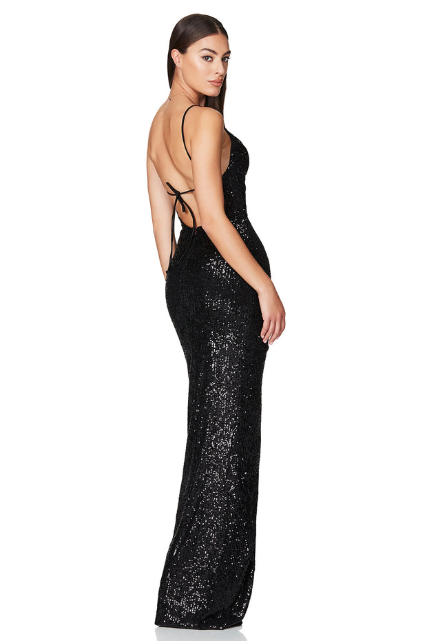 Nookie Cosmo Gown - Black - SHOPJAUS - JAUS