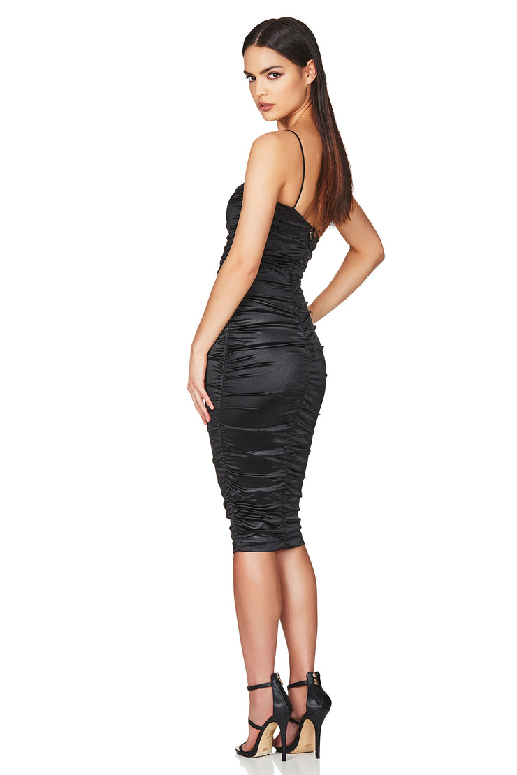 Nookie Cupid Midi Dress - Black - SHOPJAUS - JAUS