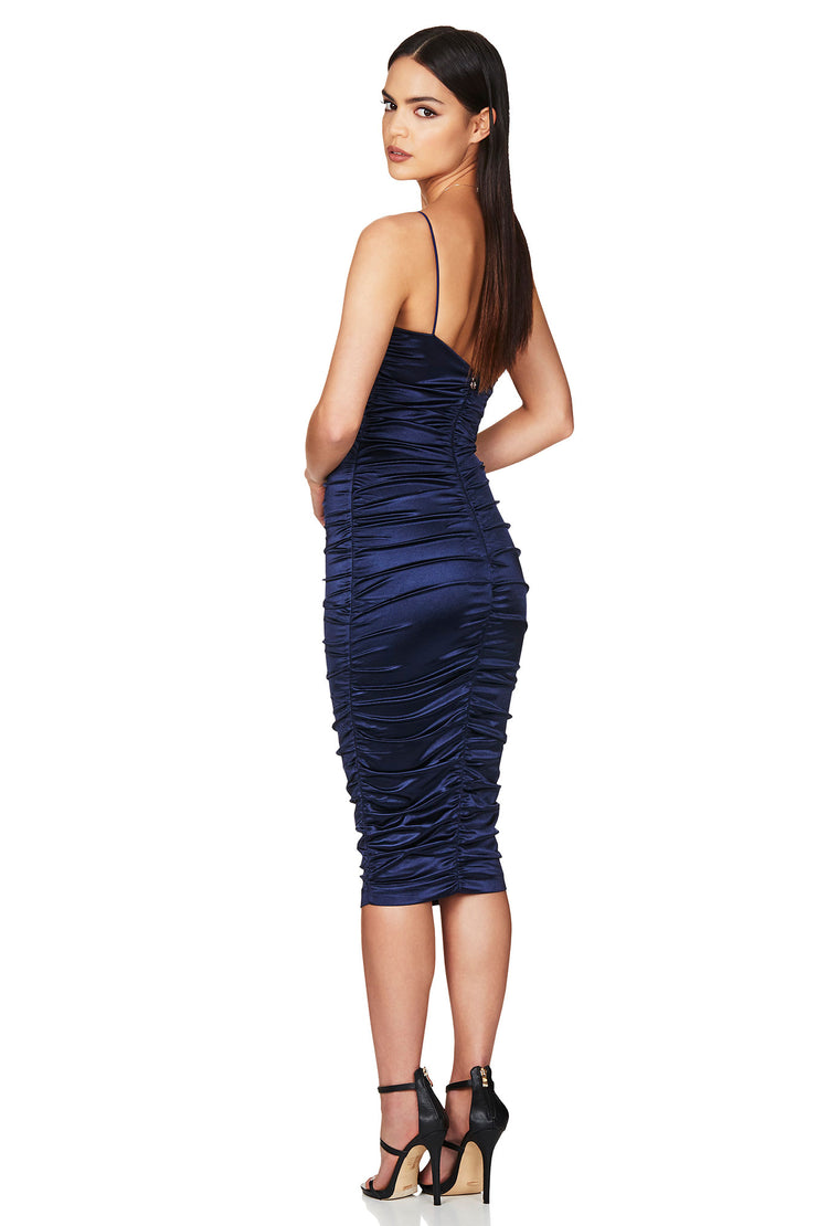 Nookie Cupid Midi Dress - Navy - SHOPJAUS - JAUS