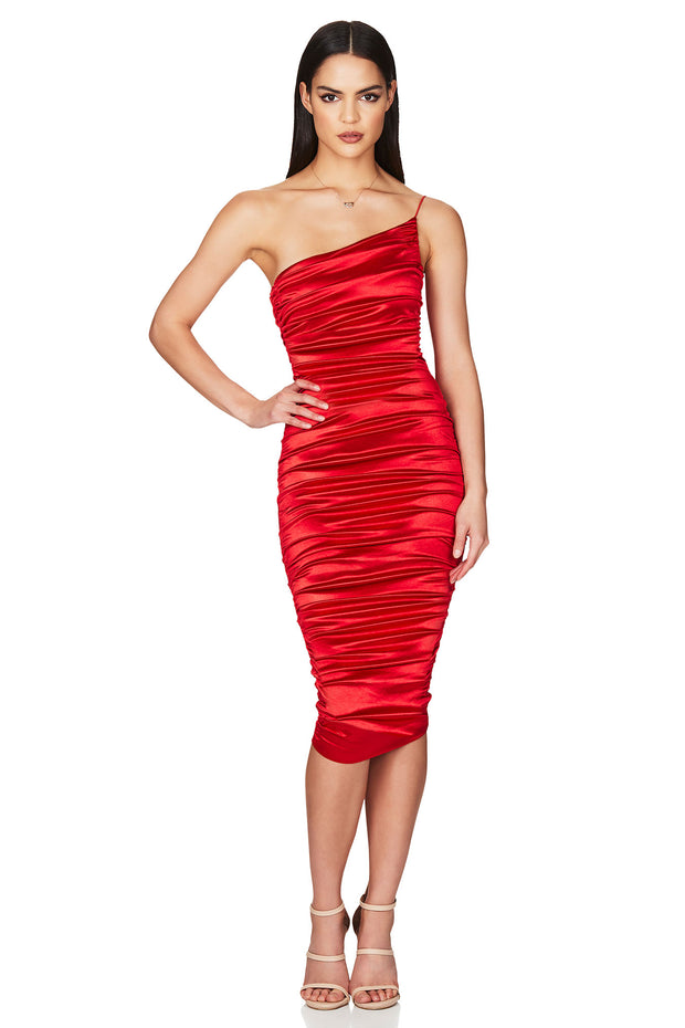 Nookie Cupid Midi Dress - Red - SHOPJAUS - JAUS