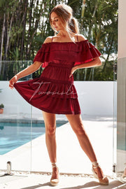 Cassie Dress - Red - SHOPJAUS - JAUS