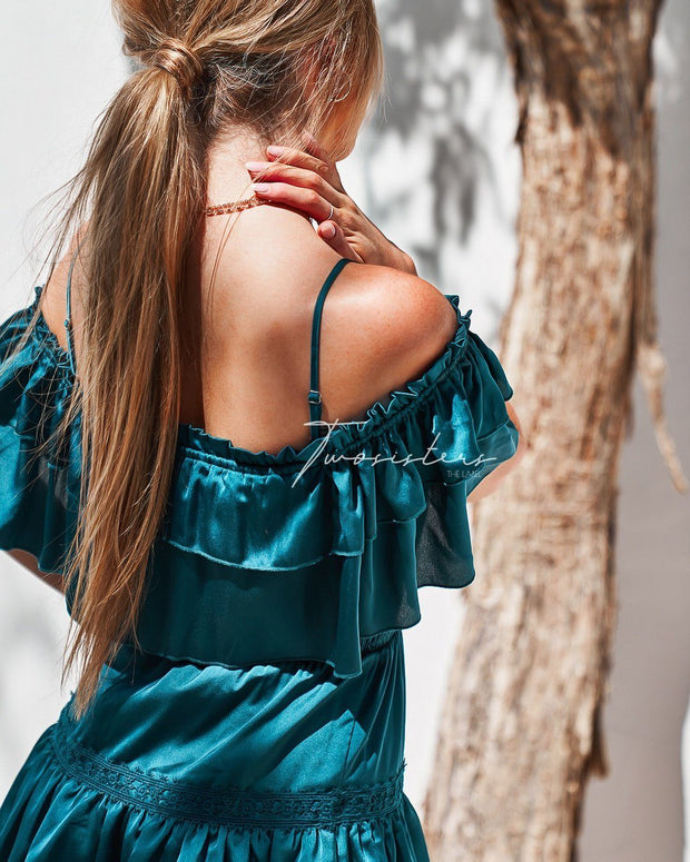 Cassie Dress - Teal - SHOPJAUS - JAUS