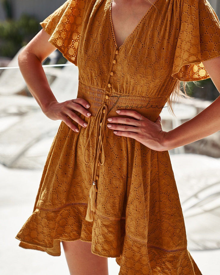 Catania Dress - Mustard - SHOPJAUS - JAUS