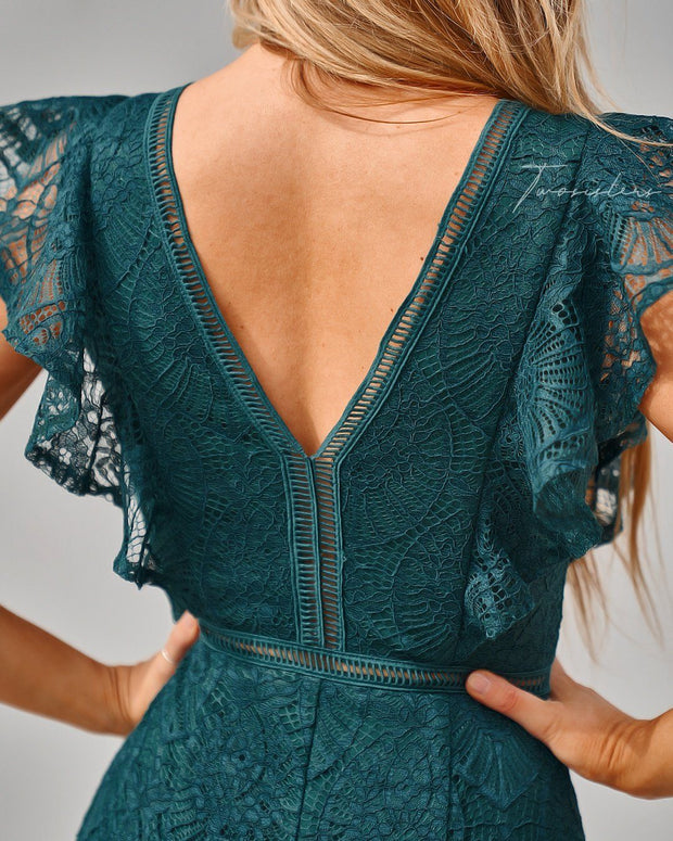Chantelle Dress - Green - SHOPJAUS - JAUS