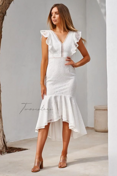 Chantelle Dress - White - SHOPJAUS - JAUS