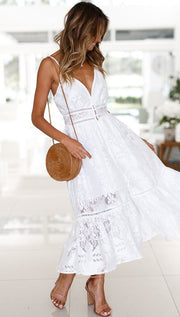 Costa Maxi Dress - White - SHOPJAUS - JAUS