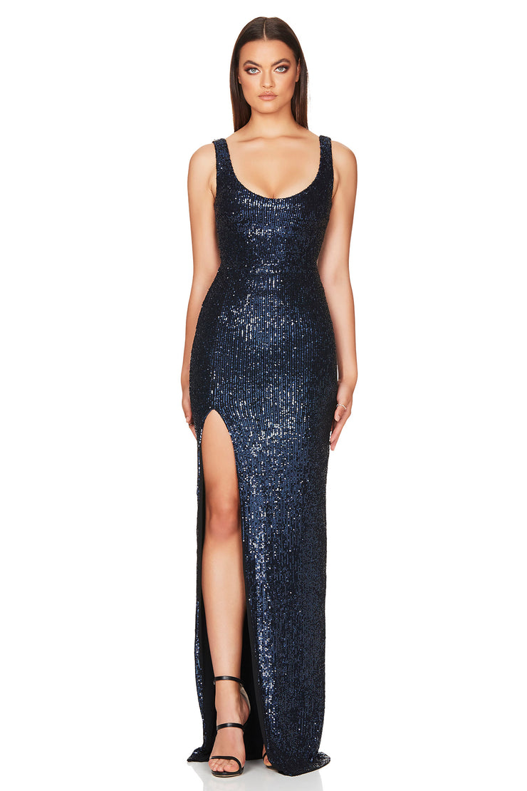 Nookie Demi Gown - Navy