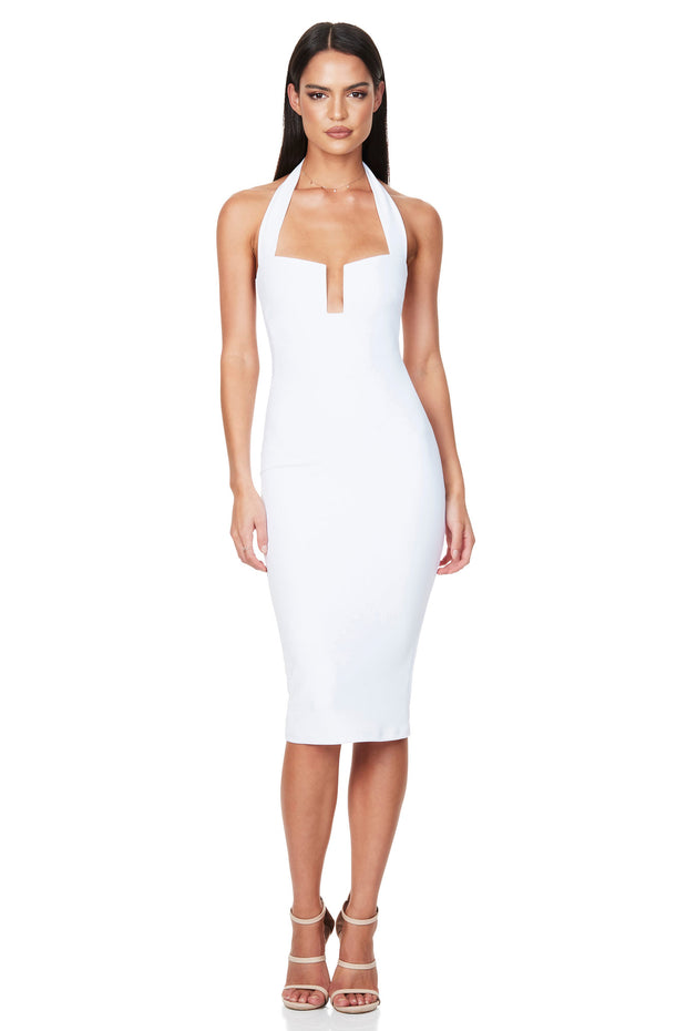 Nookie Destiny Midi Dress - White