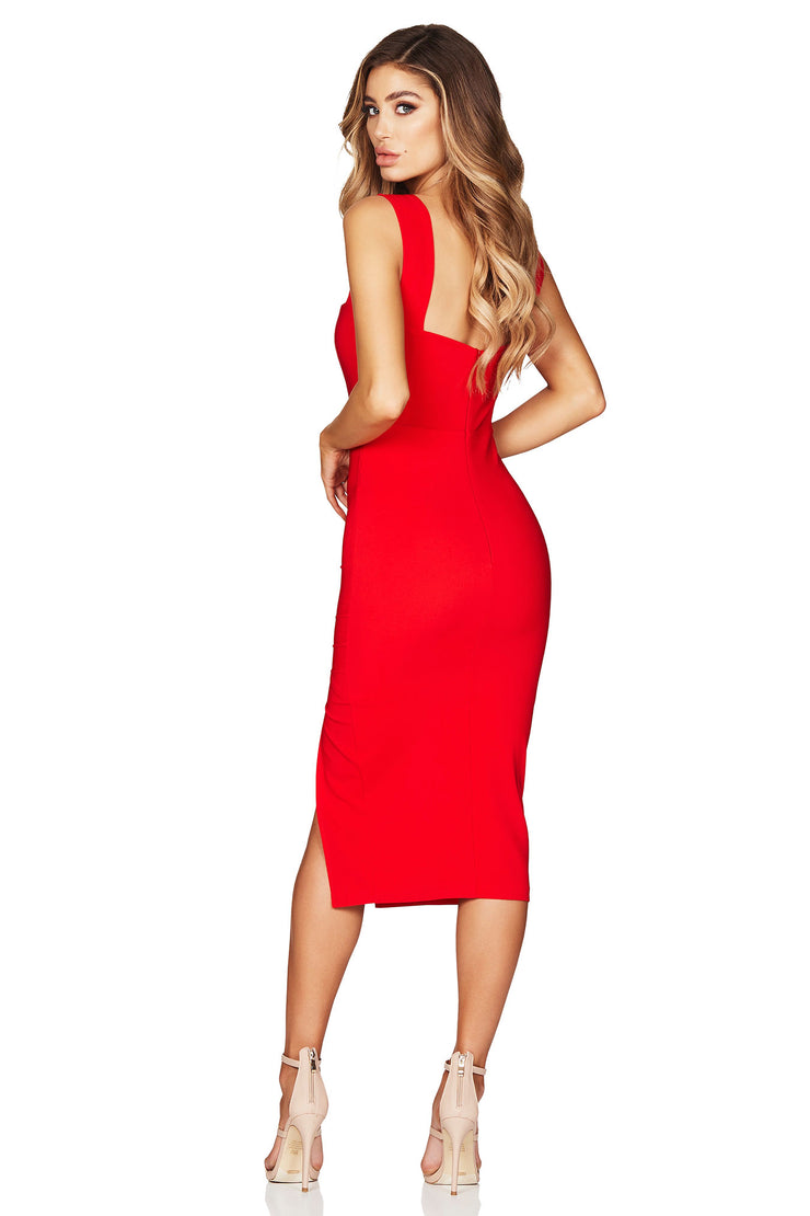 Nookie Divine Midi Dress - Red - SHOPJAUS - JAUS