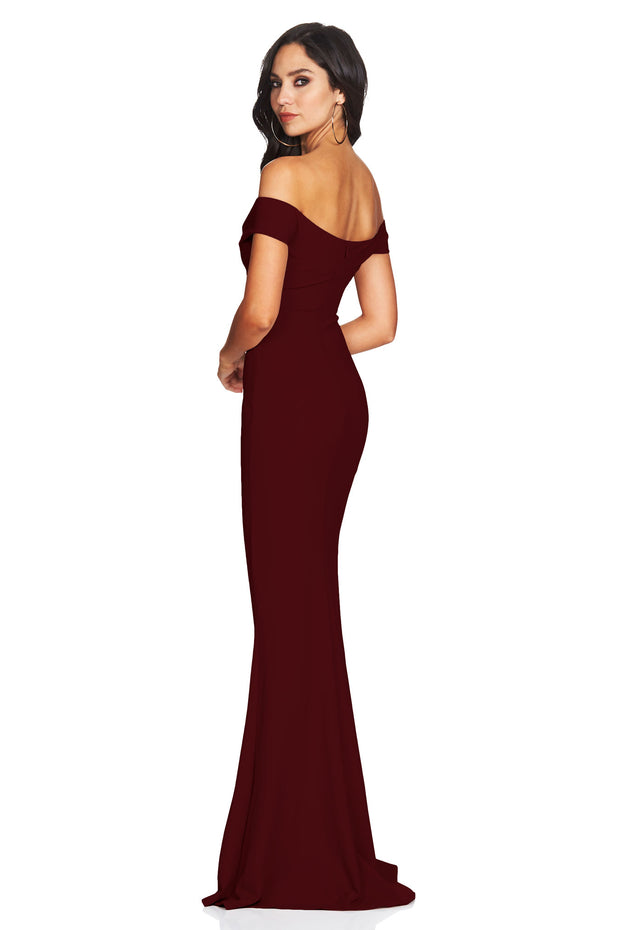 Nookie Dolly Gown - Wine - SHOPJAUS - JAUS