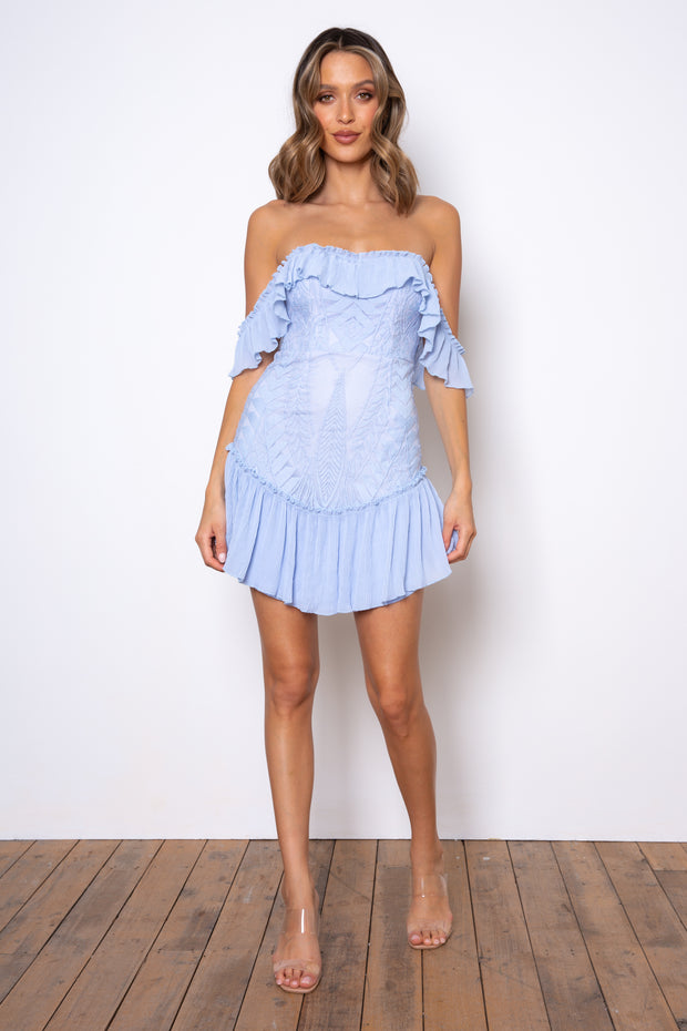 Dreamer Mini Dress - Blue