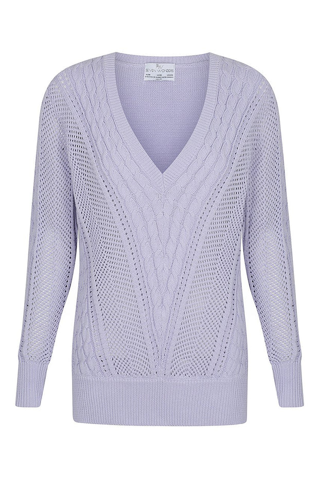 Novah Knit Sweater - Lilac