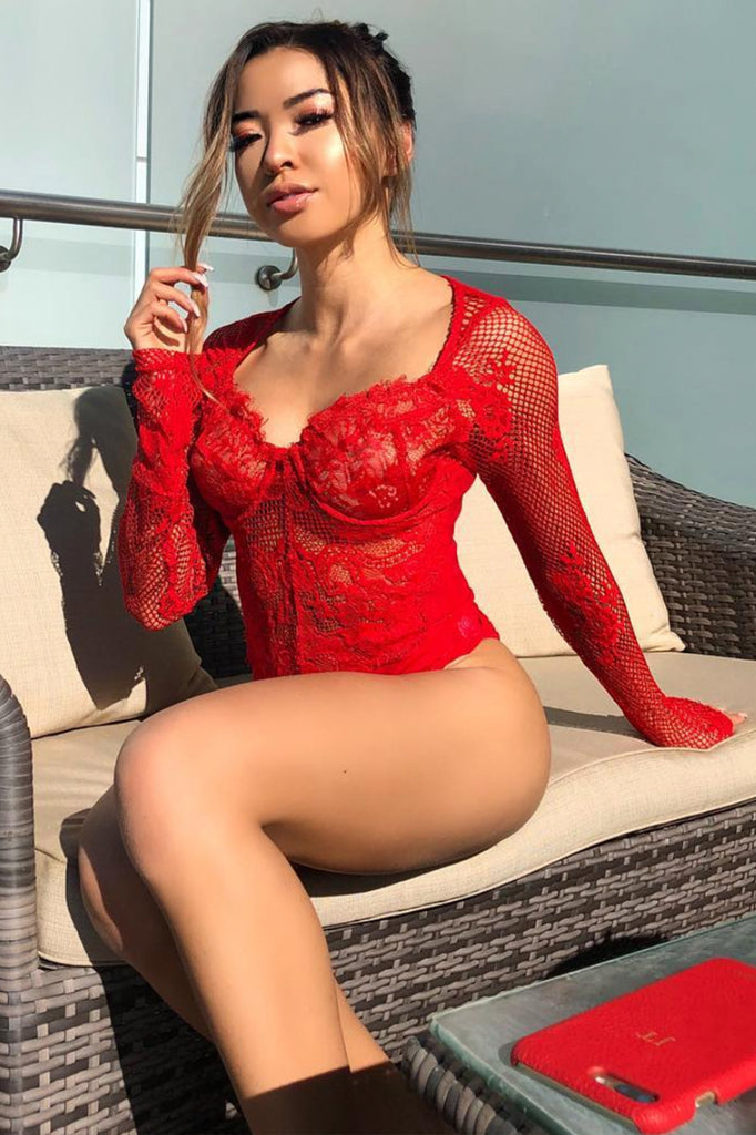 Danielle Bodysuit - Red - SHOPJAUS - JAUS