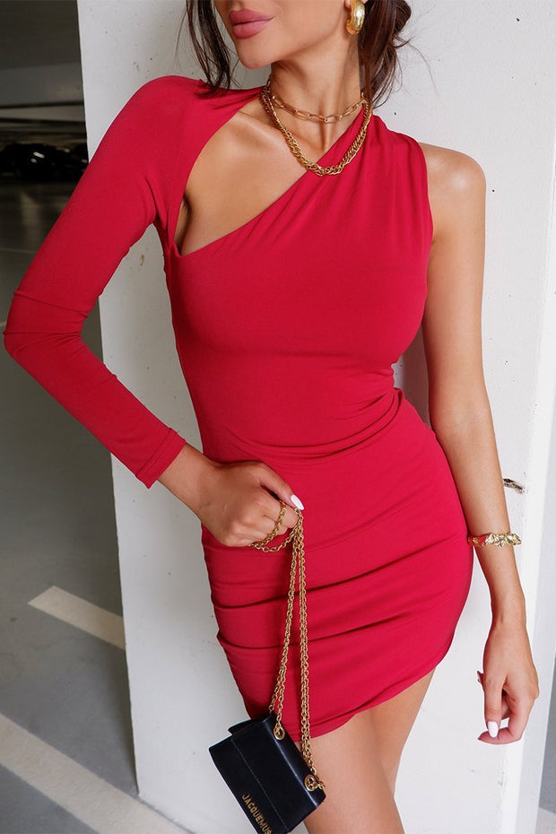 Daniela Mini Dress - Red - SHOPJAUS - JAUS