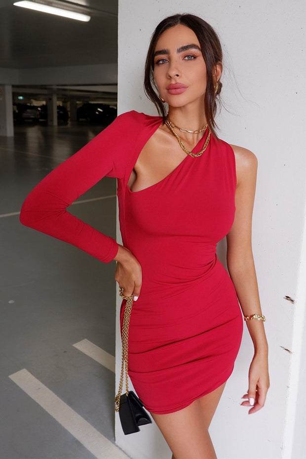 Daniela Mini Dress - Red (PREORDER) - SHOPJAUS - JAUS