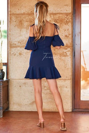 Daynah Dress - Navy - SHOPJAUS - JAUS