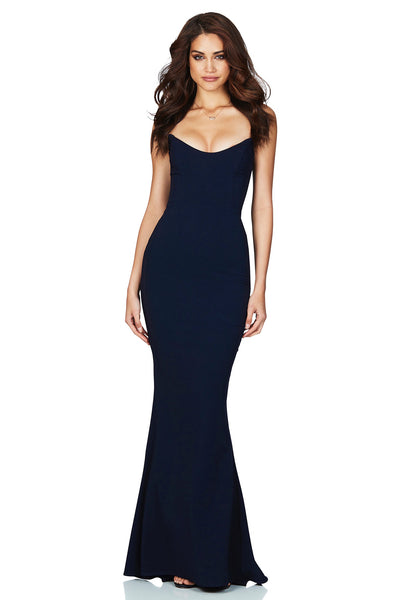 Nookie Diamond Gown - Navy - SHOPJAUS - JAUS