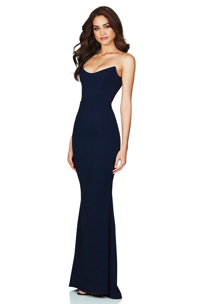 Nookie Diamond Gown - Navy