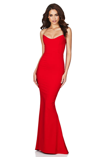 Nookie Diamond Gown - Red - SHOPJAUS - JAUS